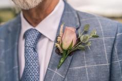 Memory lane rose, astilbe and Ivy