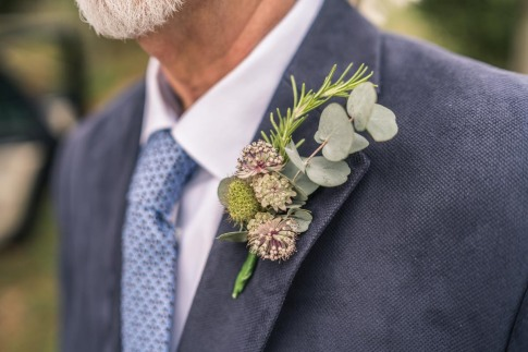 Rosemary, eucalyptus, astrantia and seedbeds