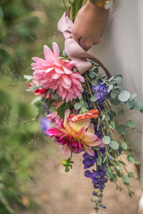 Close-up - love those Dahlias and Delphiniums